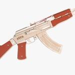 Автомат Калашникова АК-47 (деревянный, стреляет канцелярскими резинками)