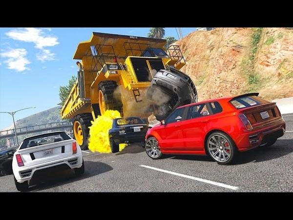 GTA 5 Аварии И Разрушения На БЕЛАЗЕ