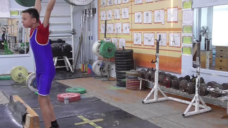 Бессонов Дима, 14 лет, вк 45 Толчок 48 кг Второй личный рекорд!