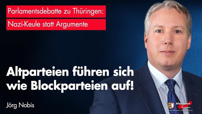 Jörg Nobis AfD Altparteien führen sich wie Blockparteien auf