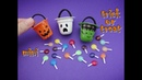 DIY Miniature Doll Accessories Mini Halloween Trick or Treat Bag with Candy Easy