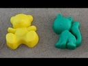 Learn colors with kids. Funny colored animals bear duck kitten. Video for children.Color