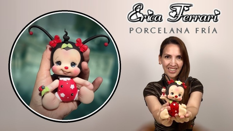 🐶 Erica Ferrari Porcelana Fría | Mariquita | Vaquita San Antonio | Lady Bug | Clase Gratis | DIY |