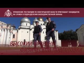 Управление Росгвардии по Новгородской области приглашает кандидатов на службу в подразделения вневедомственной охраны