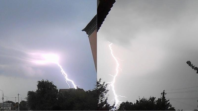Сильная утренняя гроза в Гомеле 27 июля 2019 Meteothica