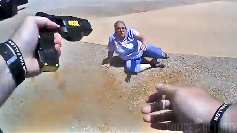 65 year old Woman Gets Tased After Resisting Arrest and Refusing to Sign $80 Ticket