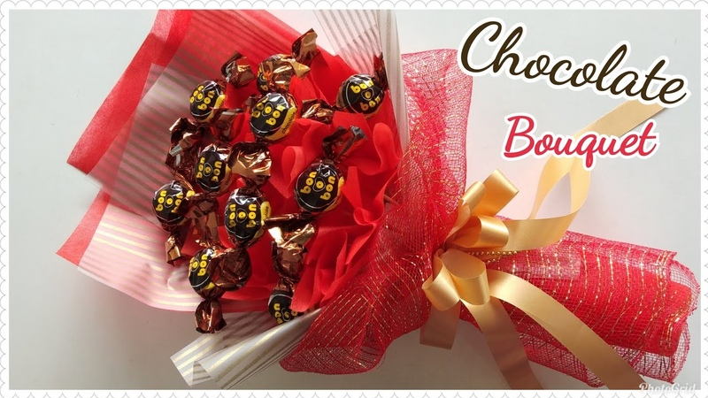 How to wrap chocolates bouquet /วิธีทำช่อช็อคโกแลต