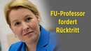 Plagiat und mangelnde Distanz FU Professor fordert Rücktritt von Ministerin Giffey