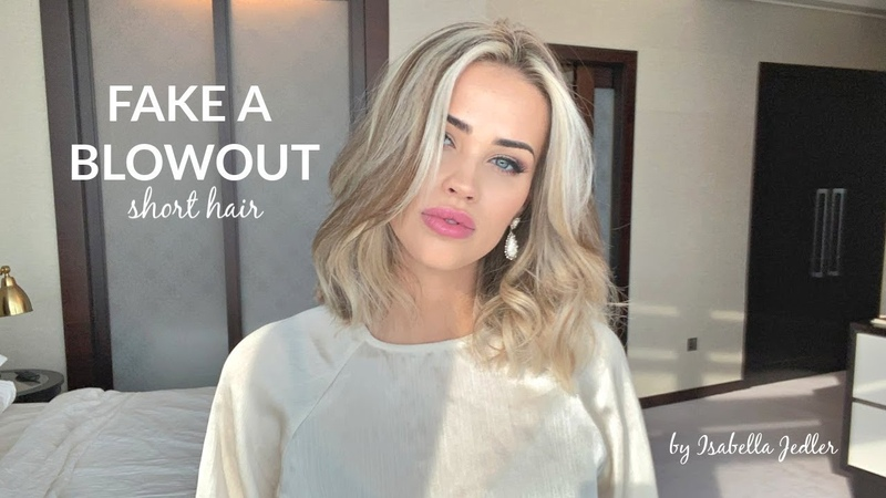 How I Fake A Blowout For Short Hair - Isabella Jedler Hair Tutorial