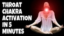 THROAT CHAKRA ACTIVATION HEALING IN 5 MINUTES. FAST TREATMENT