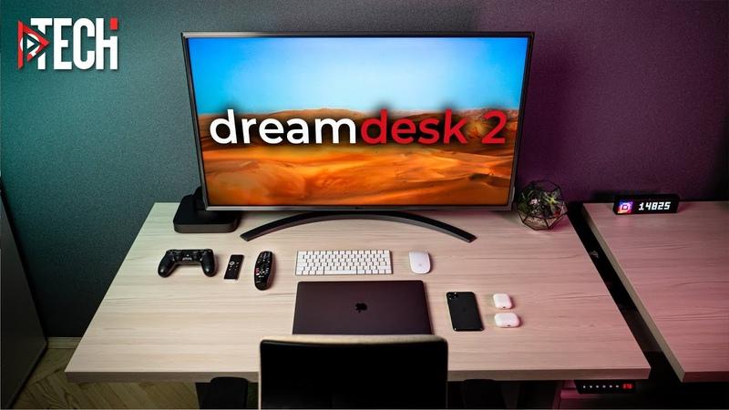 Идеальное универсальное рабочее место для работы (стоя и сидя), игр и мультимедиа. Dream Desk 2