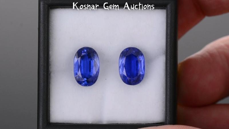 Spectacular Ceylon Blue Nepalese Kyanite Gemstone Match Pair from KGC