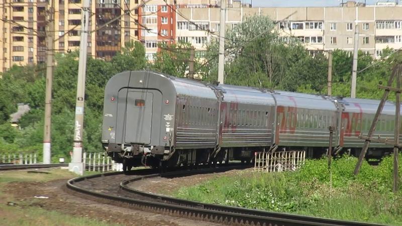 Электровоз ЭП20-030 с поездом№740А Брянск-Москва перегон Латышская-Нара 5.06.2018