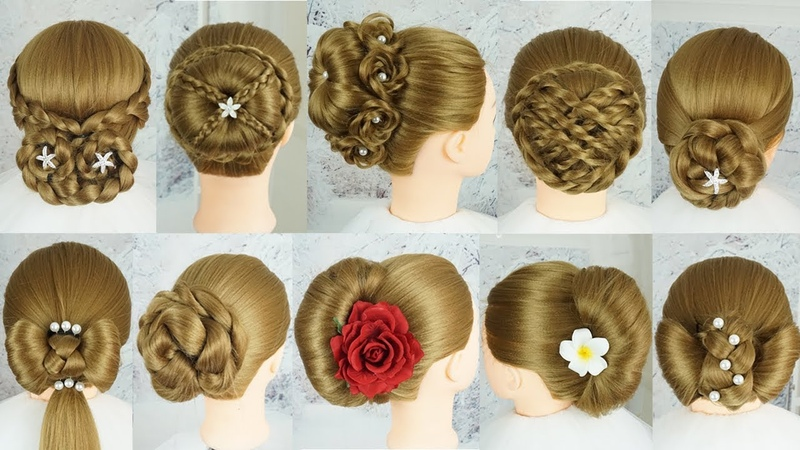 10 Easy Party Hairstyles 2019 For Girls | Hairstyles For Wedding Guests | Easy Hairstyles Long Hair