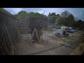Want to see how we created the rustic tree house for the back to nature garden at rhschelsea flower show