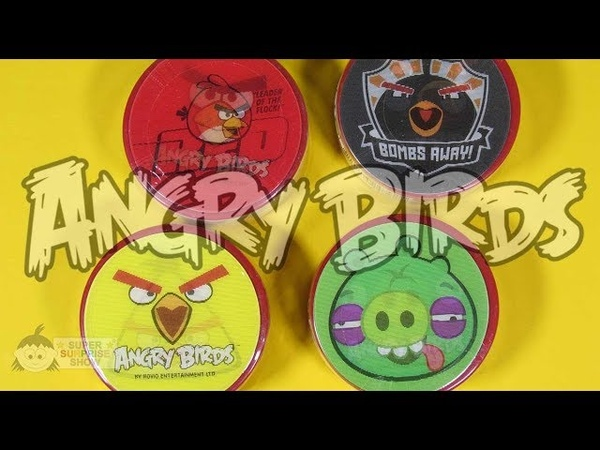 ANGRY BIRDS Chewing Gum Tape for Extra Long Bubble Gum with Red Chuck Minion Pig