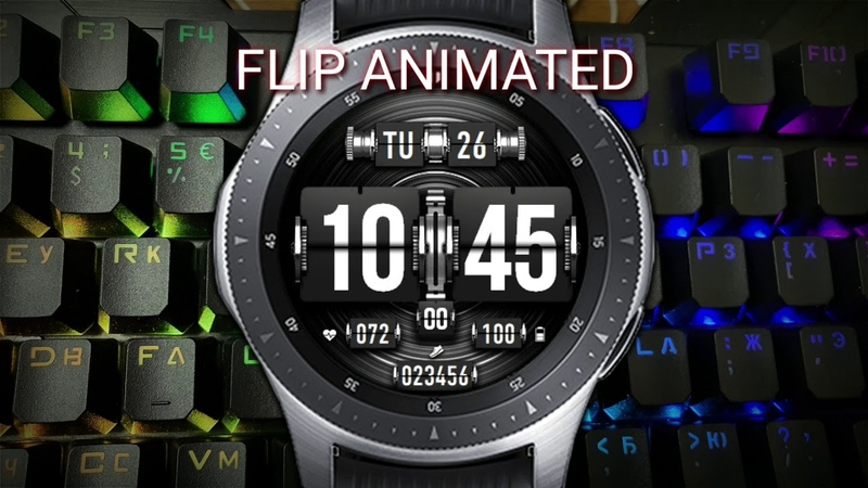 FLIP ANIMATED WW48 Multilang watchface for Samsung Gear Samsung Galaxy watch