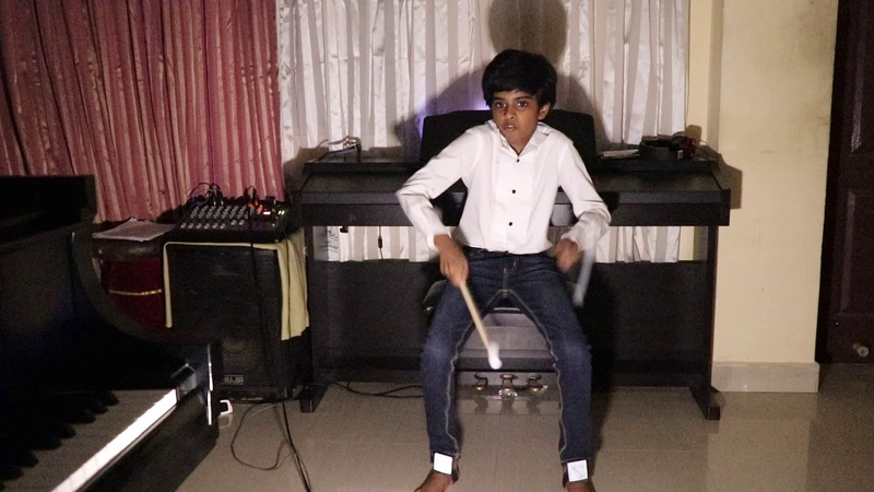 Lydian Nadhaswaram plays Aerodrums for the first time ...