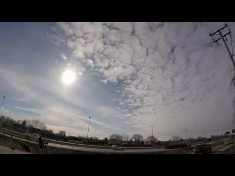 2018 Micro timelapse Sunrise Artificial Stratus Cumulus 23 march