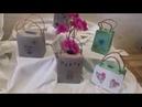 Beton kleine Tasche 👜als Vase
