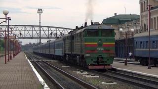 Смена локомотива 2ТЭ10М-2608 на 2М62У-0215А / 2М62У-0290А на ст.Ивано Франковск