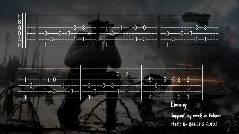 Battlefield Main Theme Full Acoustic Guitar Tab by Ebunny Fingerstyle How to Play