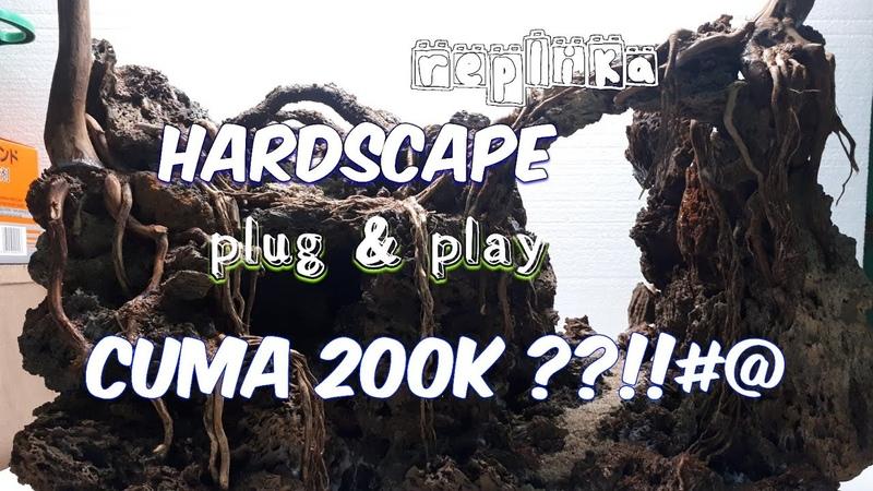 Step bay step hardscape aquascape plug n play cuma 200k Batu garang 50x30x35