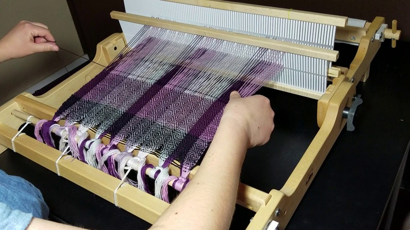 Diamond Twill Pattern for Rigid Heddle Loom weaving sequence video 6 of 6