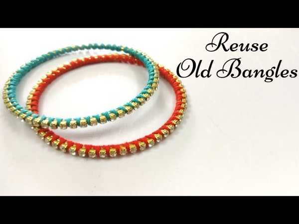 How To Reuse Old Bangles | DIY Thread Bangles | Silk Thread Bangles | Best Out Of WasteMaking