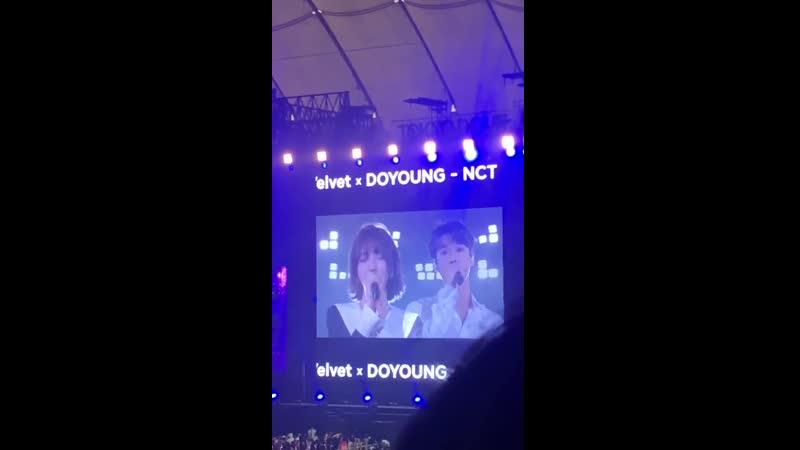 03 08 2019 SMTOWN LIVE 2019 IN TOKYO Венди из Red Velvet и Доён из NCT исполнили кавер на Breath Джонхёна и Тэён