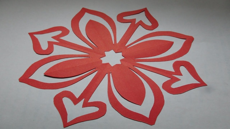 How to make simple easy paper cutting flower designs/ paper flowers/DIY Tutorial by step by step