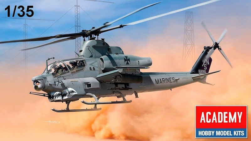 FULL VIDEO BUILD 135 AH-1Z VIPER by ACADEMY