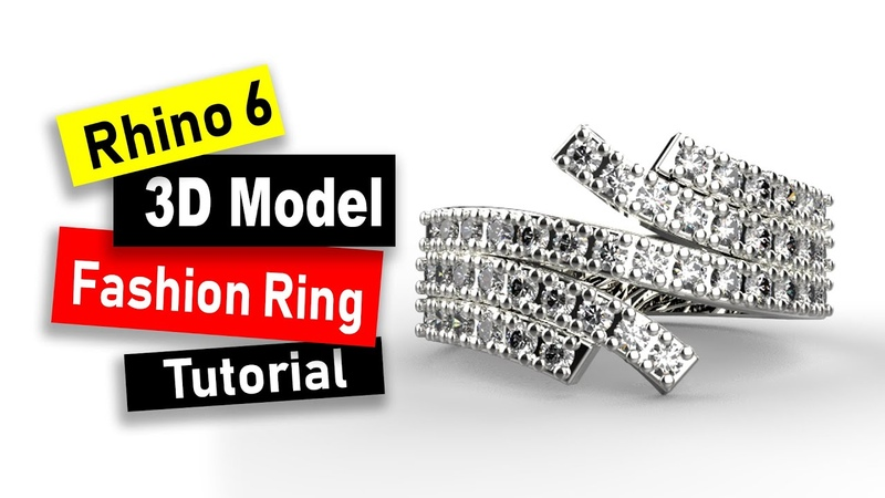 Offset Fashion Ring 3D Model in Rhino 6: Jewelry CAD Design Tutorial 90