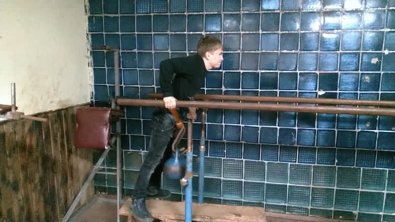Никита Аболмасов Брусья с грузом 56 кг Собственный вес 56 кг