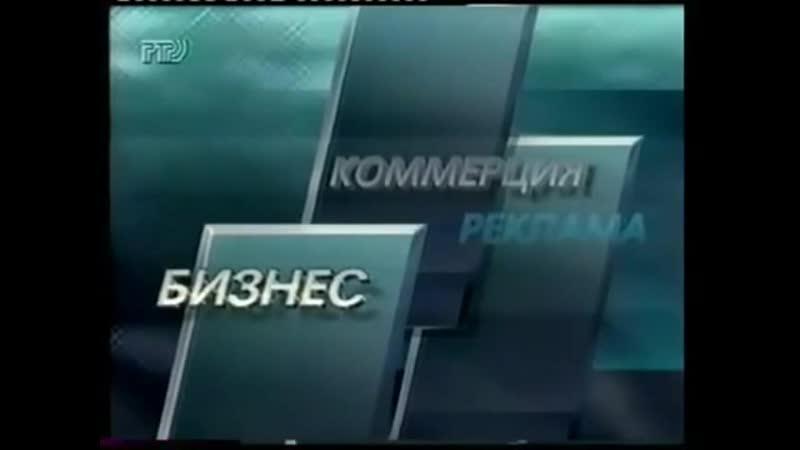 Рекламная заставка во время Вестей РТР 1996 1997