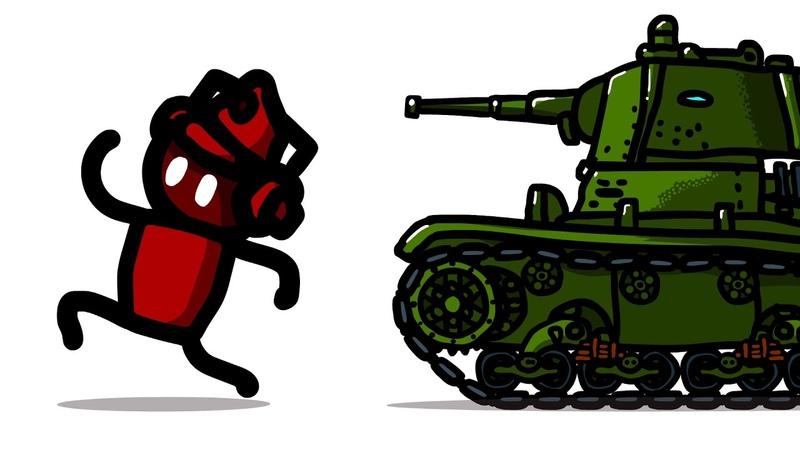 Истории танкистов Подлый Артавод Красные против Зелёных анимация