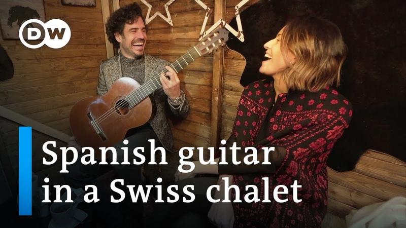 Pablo Sáinz Villegas Spanish guitar in a Swiss chalet with Alondra de la Parra