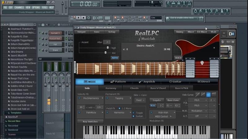 Musiclab Realguitar в FlStudio как сделать приглушку Fuzz звуков! how to make priglushku