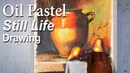 Realistic Still Life drawing in Oil Pastel tutorial | Jug Fruits (Inspired by Loran Speck work)