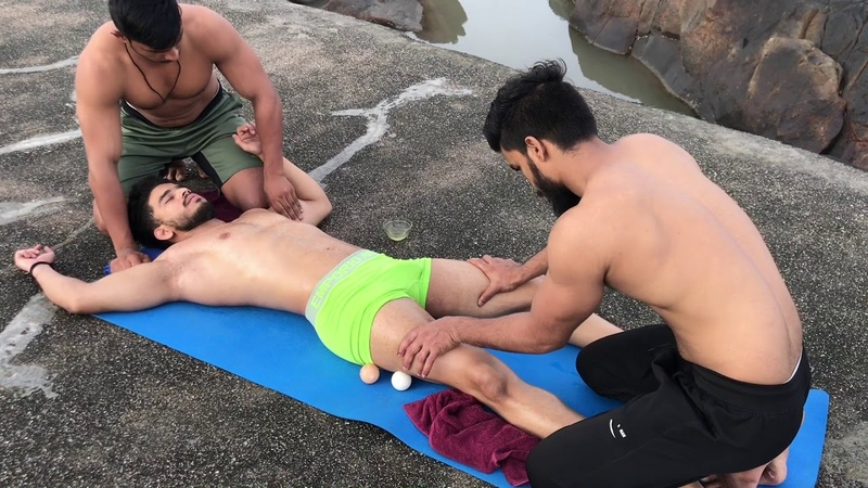 ASMR Relaxing four hand body massage by Indian masseur Monu Fareed with Firoz (Ep-7)