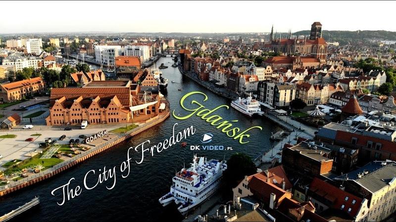 Gdańsk 2020 z lotu ptaka Gdansk in Poland by drone