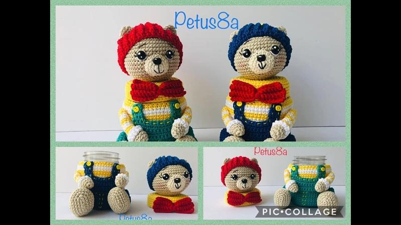 Dulcero oso amigurumi en crochet amigurumis by Petus English subtitles