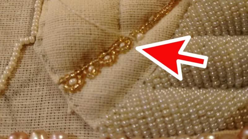 Стеклянное кружево и 2 вида бисера. Вышивка Гефсиманской плащаницы день 8