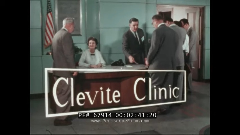 CLEVITE CLINIC 1950s AUTOMOBILE CRANKCASE BEARING CAMSHAFT BEARING TRAINING FILM 67914