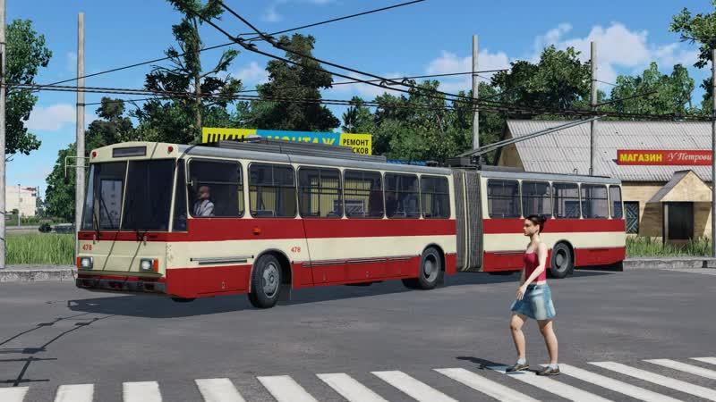 Trolleybus in Transport Fever
