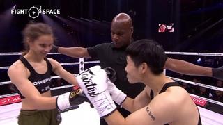 Glory 74: Ребека Ирвин — Юи Ху Полный бой HD   Кикбоксинг
