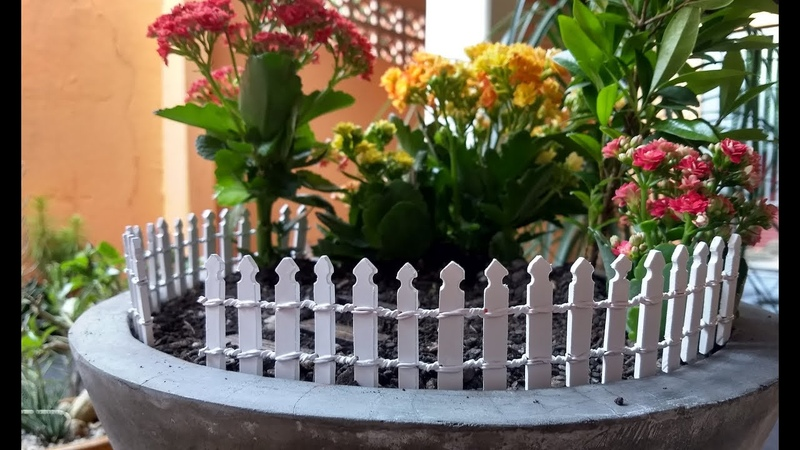 DIY Cerca para Mini Jardins