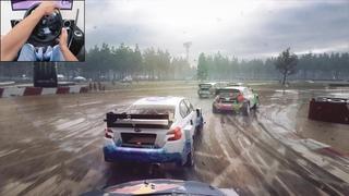 Subaru WRX STI Rallycross - Dirt Rally 2.0   Logitech g29 gameplay