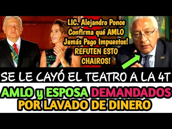 AMLO y SU ESPOSA DEMANDADOS POR LAVADO DE DINĘRÔ CONFIRMA ALEJANDRO PONCE | BETO ALFA NOTICIAS