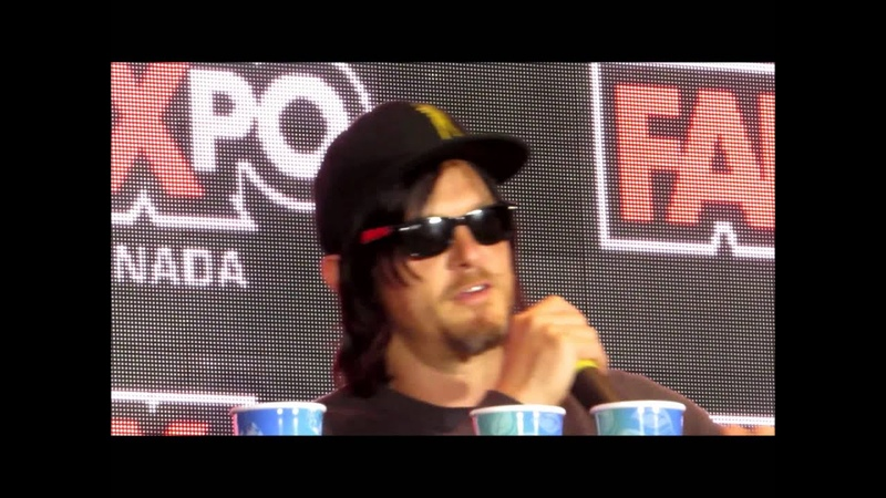 Norman Reedus word vomit at fan expo, so silly )